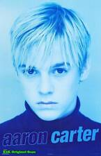MUSIC POSTER~Aaron Carter In Blue Closeup Face Young Kid Rare Out of Print~