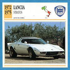 SCHEDA TECNICA AUTO DA COLLEZIONE - LANCIA STRATOS 1972-1975