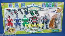 "Power Rangers Time Force Red Blue Green Ranger Two- 5"" Megazord & Frax NEW 2001"
