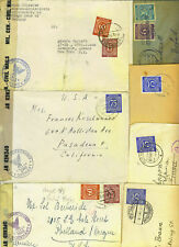 Germany 1946-47 Seven Censored Allied British And Ameri