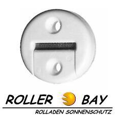 Rolladen Gurtführung rund mit Bürste weiß Rollladen für 23 mm Maxi Gurtband