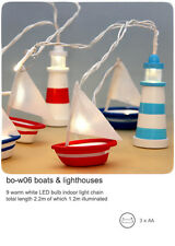 It's So Nautical - Lighthouses and Boats - LED light chain - battery operated