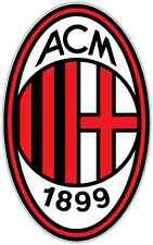 "AC Milan FC Italy Football Soccer Car Bumper Sticker Decal 3.5""X5"""