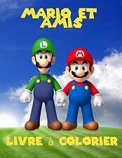 Mario et Amis Livre a Colorier : Un Livre à Colorier Grand Pour les Pages...