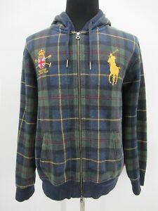 P4539 VTG Polo Ralph Lauren Men's Big Pony Hooded  Sweatshirt Size XL