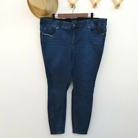 Torrid Bombshell Skinny Jeans Plus Size 20 Blue Denim Stretch Dark Wash