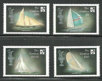 Album Treasures Gambia Scott # 672-675  America's Cup Sailing Ships  Mint NH