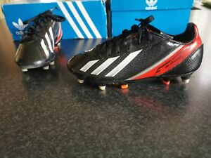 Adidas F50 Children's Football Boots Size 2 In Black