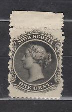 1860-1863 NOVA SCOTIA #8 1¢ QUEEN VICTORIA ISSUE MARGIN SINGLE F+