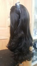 Malky Wig Sheitel European Multidirectional Wig Dark  Brown Highlights #2/7 22""