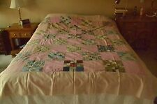 "Vintage 9-Patch Quilt-Top, 71"" x 82"", M68"