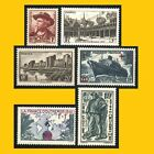 6 TIMBRES POSTE FRANCE 1941 - N° 495/499/501/502/503/504 - NEUFS **