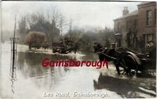 Lea Road, Gainsborough, Lincolnshire, Flood, a postcard sized Image.