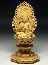 Japanese Japan, wooden Buddha statue Shingon.Shu Dainichi Nyorai  20cm