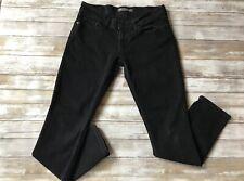 Levis 524 Too Superlow Denim Black Jeans Womens Size 9 .