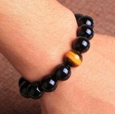 Eye Beads Bangle Bracelet Arrival 7.5'' 10mm Men's Women's Jewelry Agate Tiger