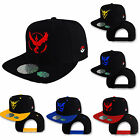 Pokemon Go Cap Team Mystic Instinct Valor Baseball Flats Snapback Black Sun Hats