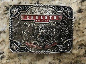 NEW PENDLETON WHISKY WHISKEY BELT BUCKLE MONTANA SILVERSMITHS COWBOY RODEO NFR