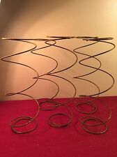 5 Large  RUSTY BED SPRINGS Nodder Steampunk Beach Primitive Rustic barn boho old