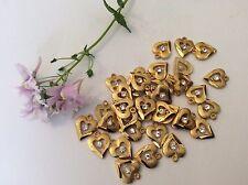 Anhänger Vintage Schmuck Komponenten Herzen Kristall rhinestone12mm x 4 Basteln