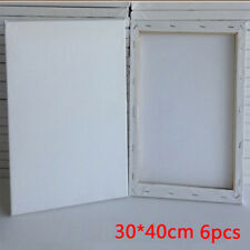 6 PACK 30 X 40CM BLANK PLAIN STRETCHED PAINTING ART ACRYLIC CANVAS