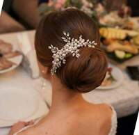 Luxury Bridal Hair Accessories, Luxury Ivory Pearl Wedding Headpiece, Pearl Comb