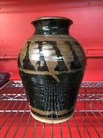 "Signed Mid Century Contemporary Modern Art 10"" Clay Vase Very Nice MINT"