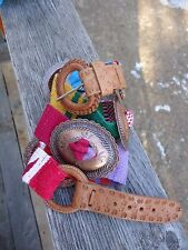 VTG CONCHO  BELT, NHAND WOVEN, BRIGHT COLORS, SOUTH WESTERN, 80'S, FREE SHP