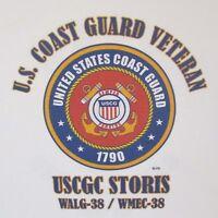 USCGC STORIS  WALG-38/ WMEC-38* CUTTER  U.S.COAST GUARD VETERAN EMBLEM*SHIRT