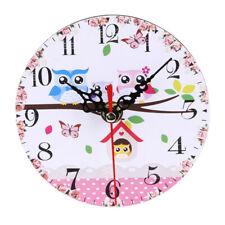 Vintage Wooden Wall Clock Large  Shabby Chic Rustic Kitchen Home Antique P4PM