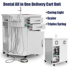 Mobile Dental All In One Delivery Cabinet Unit Cart Scaler Led Curing Light Kit