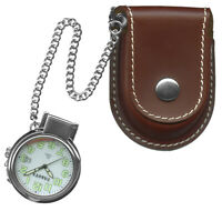 NEW Dakota Watch Leather Pouch Pocket with a Genuine Leather Pouch - Brown