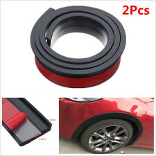 2Pcs 1.5M Car Fender Flares Extension Wheel Eyebrow Protector Lip Moulding Strip