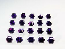 Amethyst 8.5x8.5mm Hexagon Cut Loose Stones Cubic Zirconia Gemstones