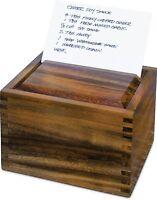 Fox Run Ironwood Gourmet Recipe Box, Acacia Wood (28339)