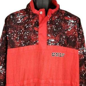 UNLV Rebels Windbreaker Jacket Vintage 80s University Of Nevada Las Vegas XL