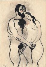 Manolo Ruiz Pipo (1929-1998) l'érotisme par un proche de Picasso encre aquarelle