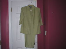 Norton McNaughton womens pants outfit olive green sz petities PL EUC