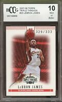 2007-08 Topps Triple Threads #23 LeBron James Card BGS BCCG 10 Mint+