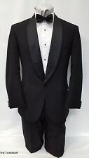 48 L USED Mens Black One Button Tuxedo Package Formal Tux Prom Wedding Sale