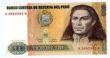 Peru ... P-134b ... 500 Intis ... 1987 ... *Ch.UNC*