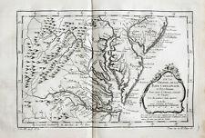 c1760 USA Virginia Maryland Kupferstich-Landkarte Bellin