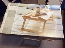 WOOD BED TRAY BREAKFAST LAPTOP DESK SERVING TABLE FOLDING LEGS NEW IN BOX