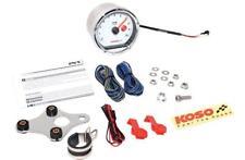 Koso North America TNT-01R Tachometers 0-15,000 RPM w/Shift Light Chrome/White