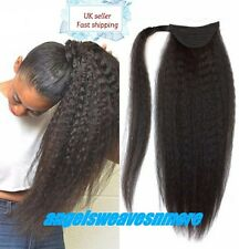 "wrap around synthetic kinky straight ponytail 18"" colour 1"