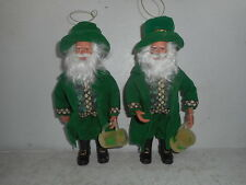 Group of (2) Santa's Workshop Irish Santa Figurines