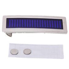 Fibbia della cintura DIY Blu Chrome torcia Scrolling LED E5U6