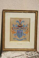 blason armoiries gouache signée , famille DE LA FARE