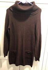 Etcetera Designer S Sweater Dress Womens  Knit Brown