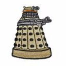 """DOCTOR WHO Yellow DALEK 3"""" Tall Embroidered Costume Patch"""